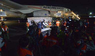 COVID-19: México recibe octavo vuelo con insumos para personal de salud pública