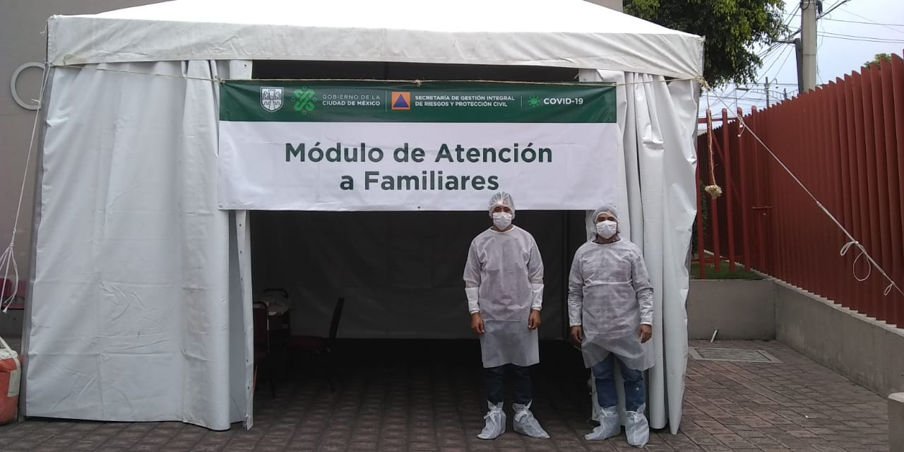 Instala Gobierno de la Ciudad de México 11 módulos de atención a familiares de pacientes con COVID-19 en hospitales