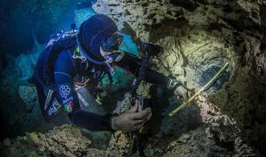 Estudios comprueban que hogueras del cenote Aktun Ha fueron creadas por el hombre hace más de 10 mil años