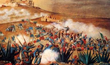 A partir de iconografía de biombo, analizan la Batalla del 5 de Mayo