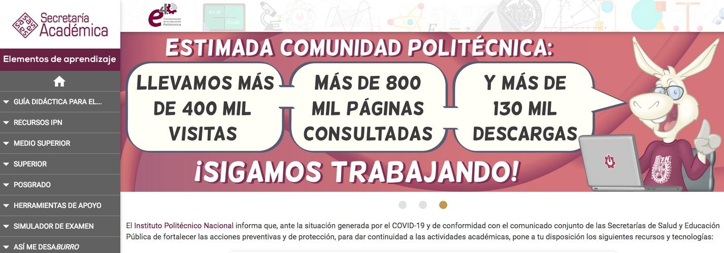 Avanza IPN en el Plan de Continuidad Académica durante la pandemia por COVID-19