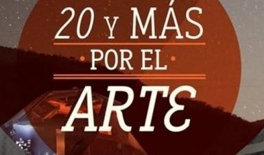 20 y más por el arte,  producción que reconoce a jóvenes creadores