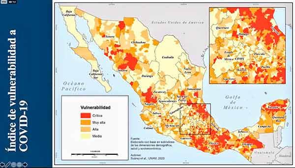 Municipios marginados y poco urbanizados, más vulnerables ante COVID-19