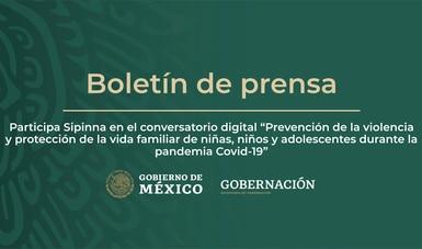 """Participa Sipinna en el conversatorio digital """"Prevención de la violencia y protección de la vida familiar de niñas, niños y adolescentes"""