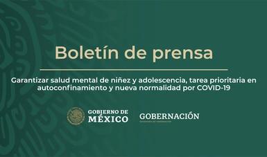 Garantizar salud mental de niñez y adolescencia, tarea prioritaria en autoconfinamiento y nueva normalidad por COVID-19