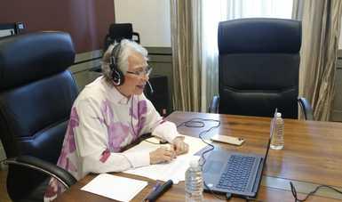 Palabras de la secretaria de Gobernación, Olga Sánchez Cordero, al participar en los Diálogos Virtuales Inafed