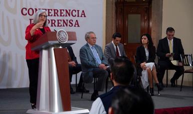 Versión estenográfica de las palabras de la secretaria de Economía, Graciela Márquez, durante la conferencia matutina, en Palacio Nacional