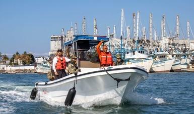 Refuerza tareas de inspección y vigilancia pesquera y acuícola en aguas nacionales
