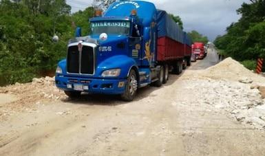 Se abre la circulación a vehículos pesados en la carretera Campeche–Umán