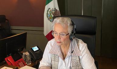 Participa secretaria de Gobernación en encuentro virtual del Consejo del Women Economic Forum Iberoamérica 2020