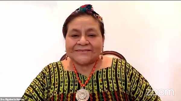 Reconoce Rigoberta Menchú esfuerzos de la UNAM ante la COVID-19
