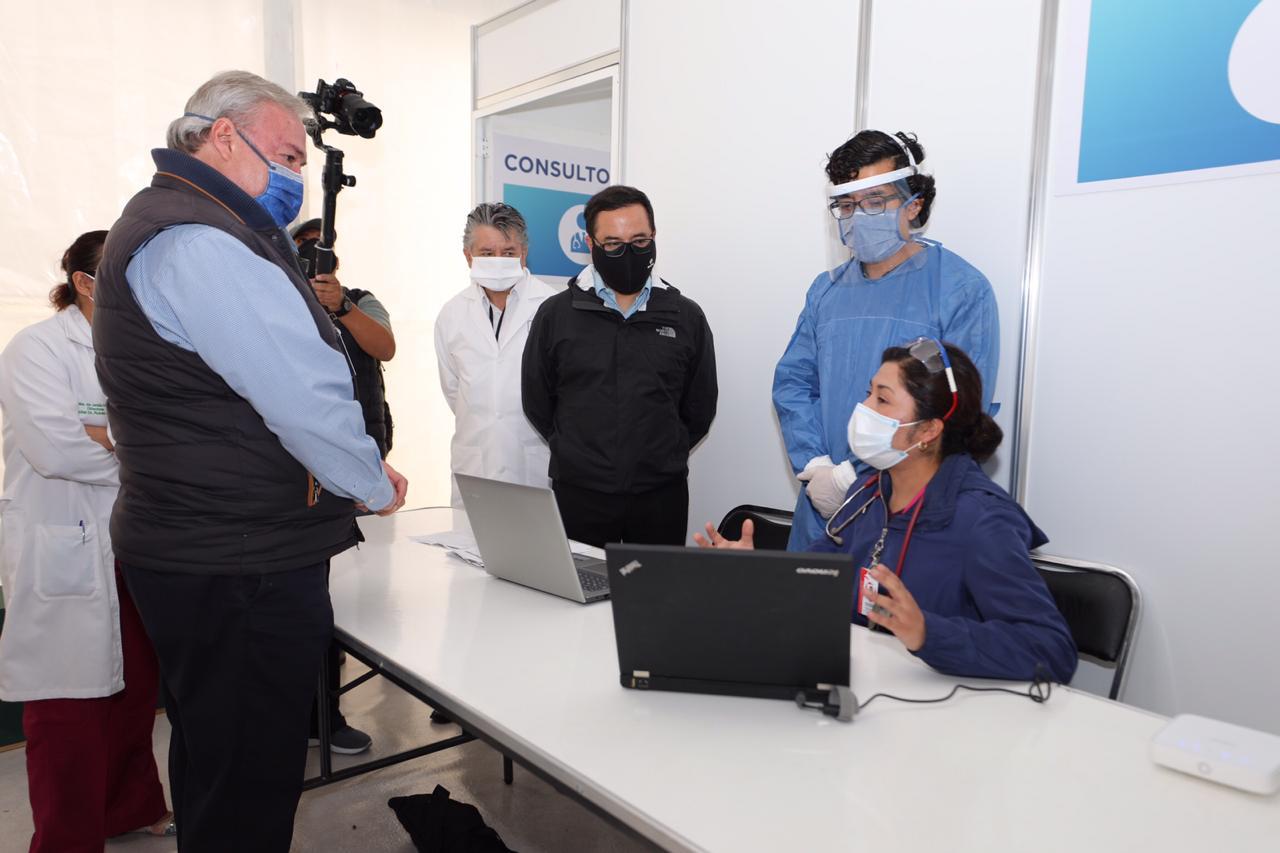 Inaugura Miguel Hidalgo centro de triage respiratorio en hospital General Dr. Rubén Leñero