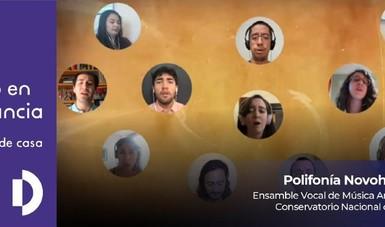 El Ensamble Vocal de Música Antigua del CNM interpreta obra de la polifonía novohispana