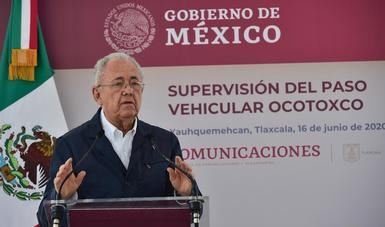 La SCT trabaja en obras importantes que incrementen la eficiencia carretera: Javier Jiménez Espriú