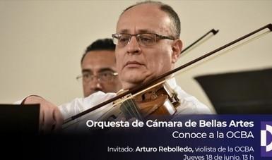Arturo Rebolledo charla sobre la creatividad del violista en la OCBA