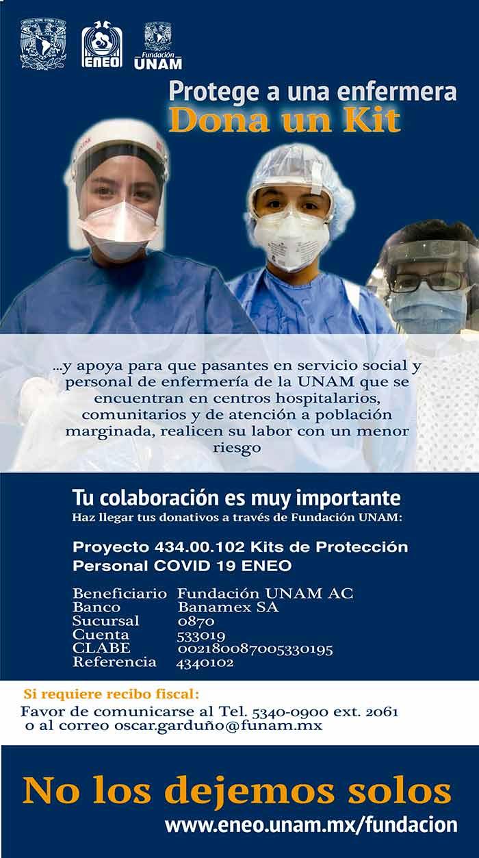 Lanzan campaña para proteger a personal de enfermería de la UNAM