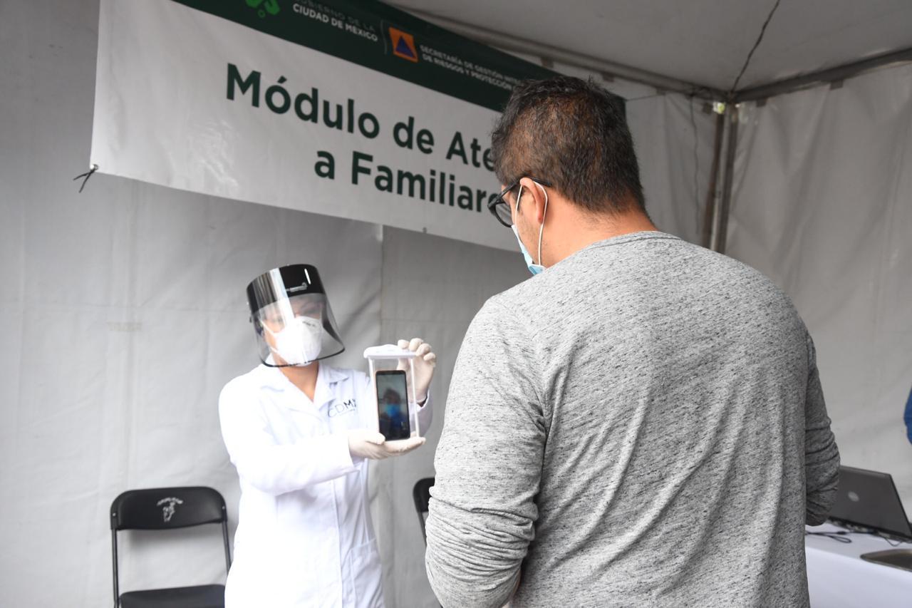 Apoya Gobierno capitalino a 4,742 familias de pacientes con COVID-19 en módulos externos de hospitales