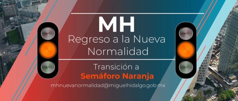Habilita Miguel Hidalgo portal para semáforo naranja