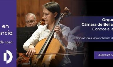 Fabiola Flores comparte los secretos del violonchelo en Conoce a la  OCBA