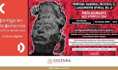 Punta Diamante presentará su nuevo LP Afrodelia, en sesión virtual de la Fonoteca Nacional