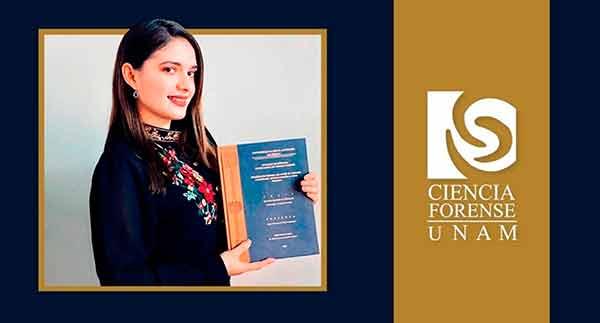Primera científica forense de la UNAM titulada a distancia