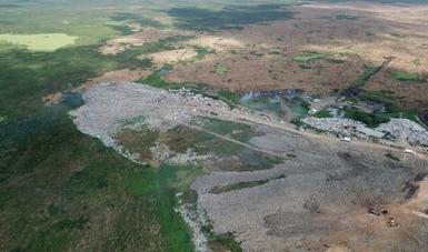 Trabaja Semarnat en el saneamiento de Las Matas y en un sitio alterno para la correcta disposición de residuos