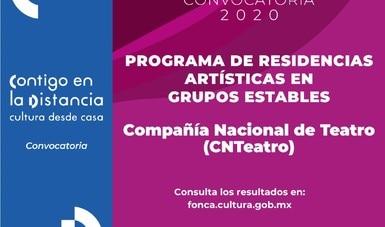 El INBAL y el Fonca presentan ganadores al Programa de Residencias Artísticas en Grupos Estables 2020 para la CNT