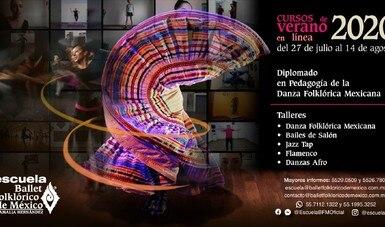 Curso de verano y diplomado en línea, en la Escuela del Ballet Folklórico de México