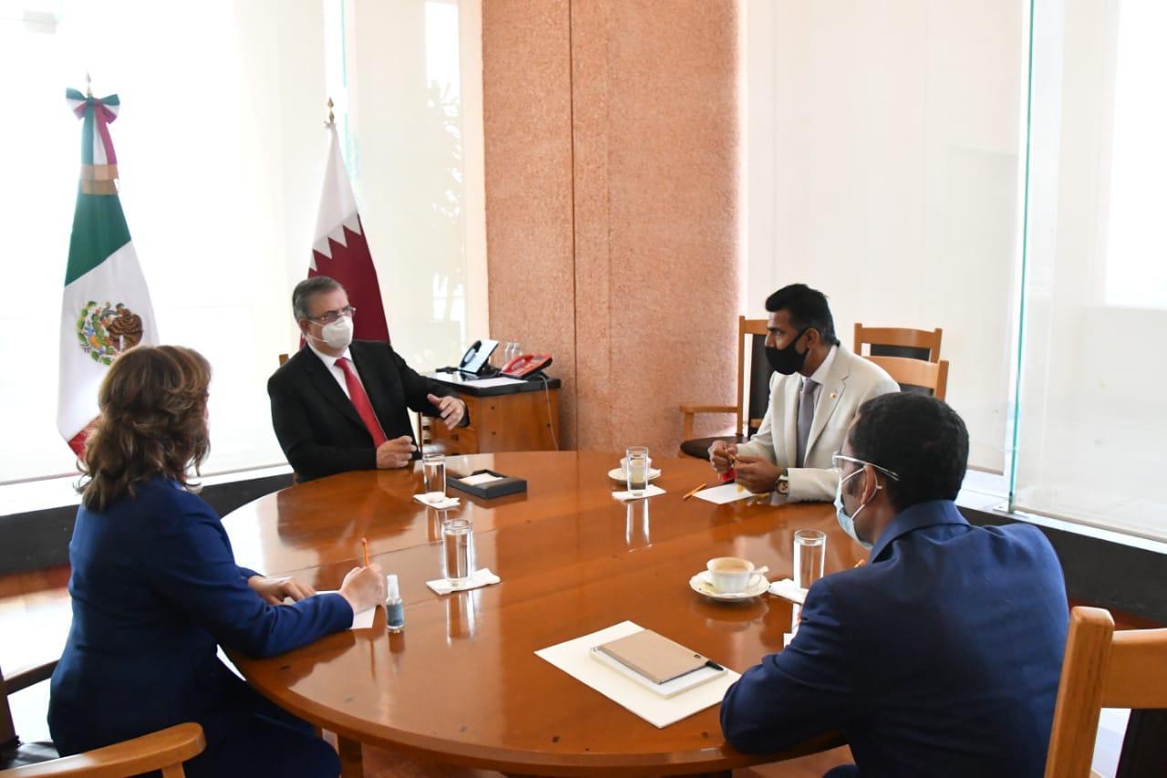 La embajada de Qatar apoya a México con insumos médicos