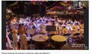 Alumnos y maestros de Fomento Musical participan en el Primer Coloquio de músicas e infancias