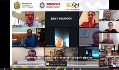 Realiza Gobernación diálogo virtual sobre desarrollo económico con estados y municipios de la región sur-centro del país