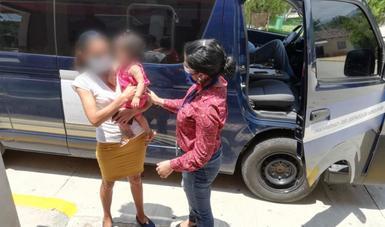 En aras del principio del Interés Superior de la Niñez, realiza INM retorno asistido de una menor a Ocotepeque, Honduras
