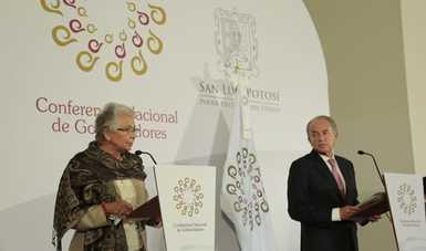 Palabras de la secretaria, Olga Sánchez Cordero, en la rueda de prensa que ofreció al término de la LIX Reunión Ordinaria de la Conago