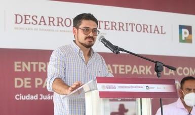 Entrega Sedatu obras en beneficio de las y los jóvenes de Ciudad Juárez