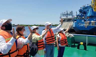 El Secretario Jorge Arganis Díaz Leal, dio a conocer que la API Puerto Chiapas realizará dragado de mantenimiento emergente