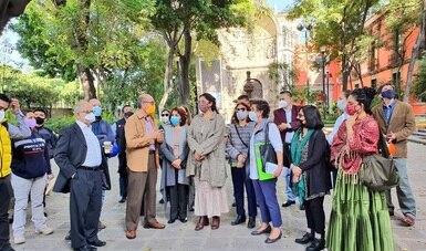 Implementan Secretaría de Cultura y Gobierno de la CDMX Plan de Acción Inmediato para Recuperar la Parroquia de la Santa Veracruz