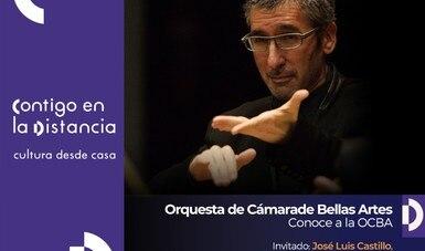 José Luis Castillo comparte en charla virtual su trayectoria en la Orquesta de Cámara de Bellas Artes