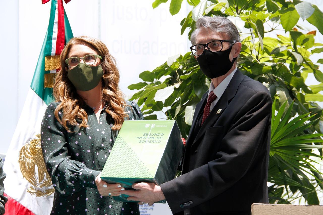 Entrega Suárez del Real segundo Informe de Gobierno de la Ciudad de México al Congreso Capitalino