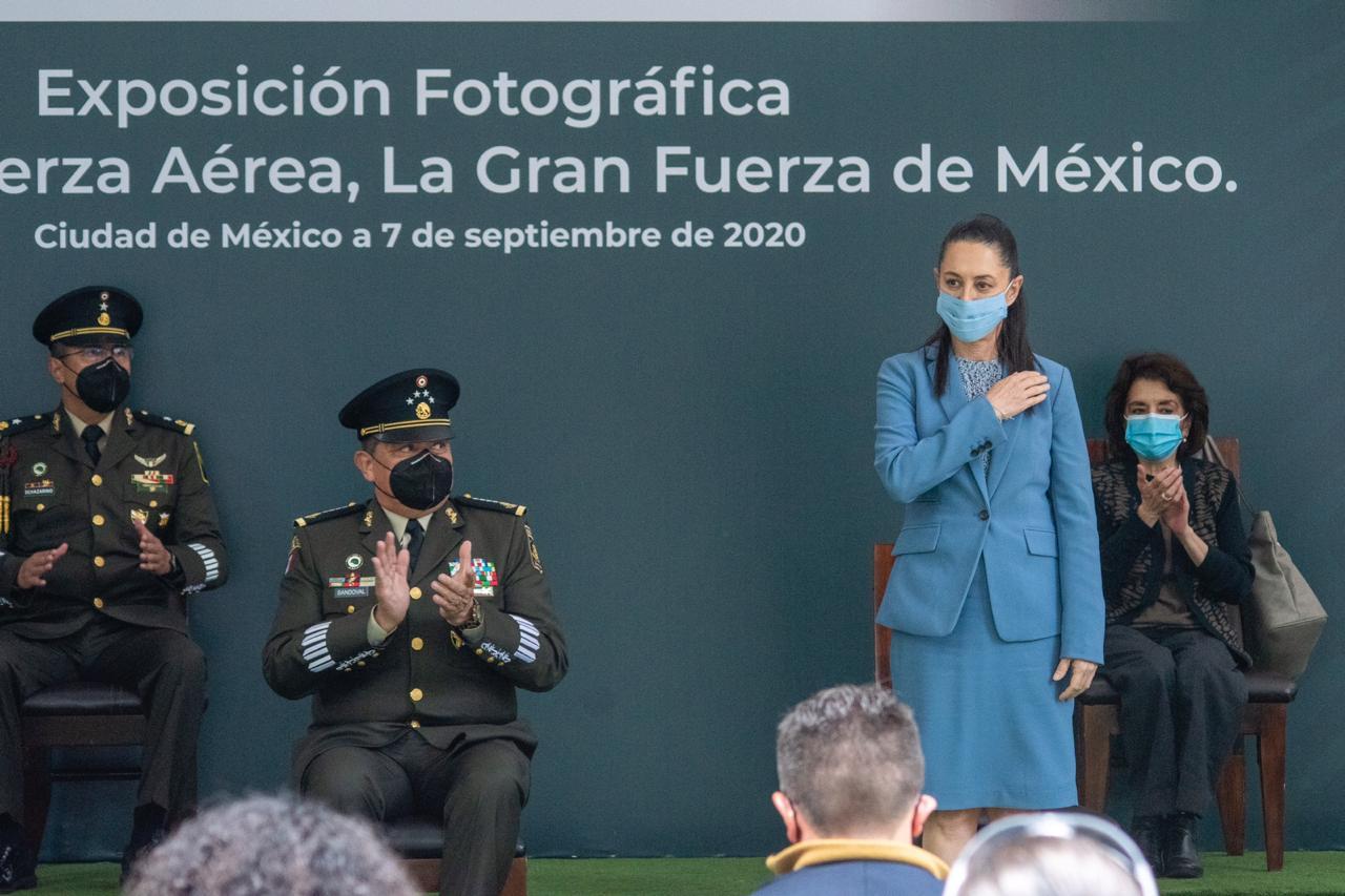 """Inaugura Jefa de Gobierno exposición fotográfica """"Ejército y Fuerza Aérea, la Gran Fuerza de México"""""""