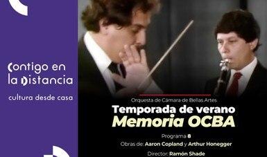 Obras de Aaron Copland y Arthur Honegger integran la octava entrega de Memoria OCBA
