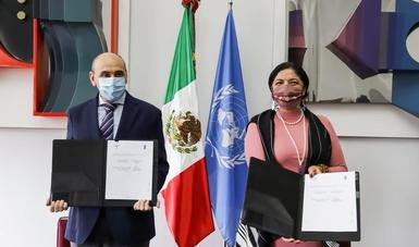 La Secretaría de Cultura y el Programa de las Naciones Unidas para el Desarrollo firman un Memorando de Entendimiento