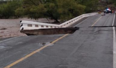 La SCT en estado de alerta por las fuertes lluvias en la Huasteca Potosina