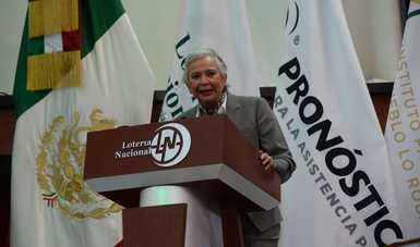 Palabras secretaria de Gobernación, Olga Sánchez Cordero, al inicio del Gran Sorteo Especial 235 de la Lotería Nacional