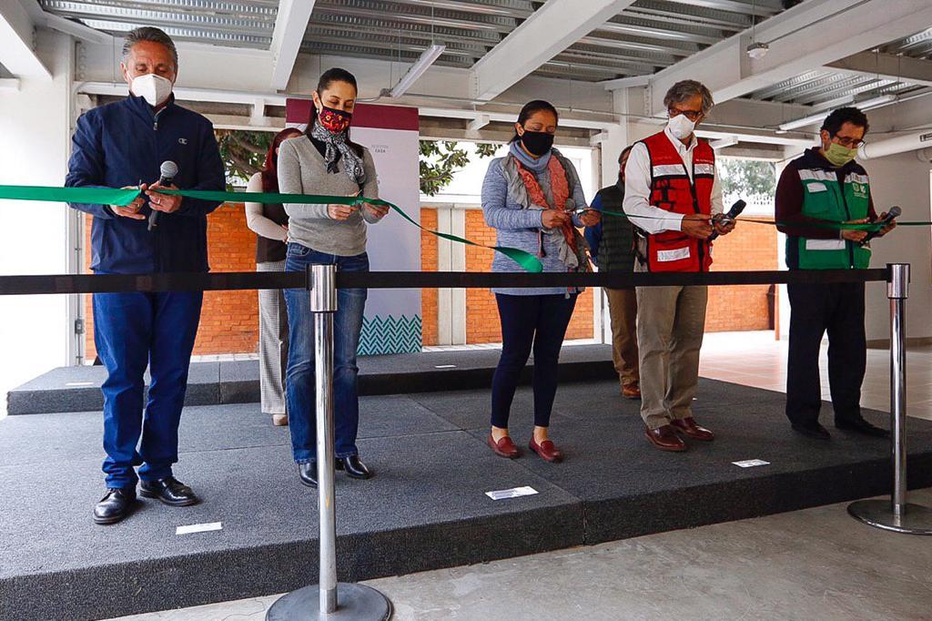 Entregan Gobierno capitalino y Fundación Carlos Slim edificio reconstruido por daños del 19S en Coyoacán