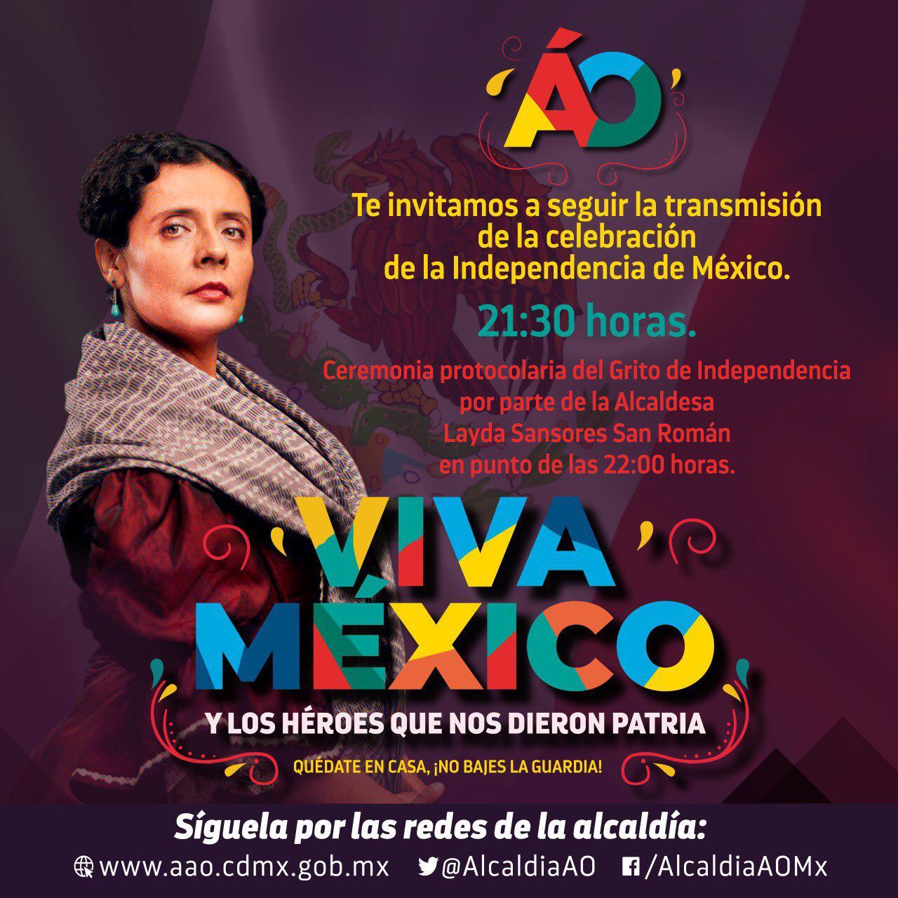 Layda Sansores alcaldesa en Álvaro Obregón dará grito de Independencia de manera virtual