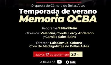 La temporada de verano Memoria OCBA concluye con concierto navideño