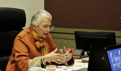 Llama secretaria Olga Sánchez Cordero a trabajar juntas y romper las barreras para empoderar a mujeres y niñas