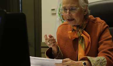 Palabras de Gobernación, Olga Sánchez Cordero, en el diálogo virtual Mujeres Líderes por la Igualdad Generacional organizado por ONU Mujeres