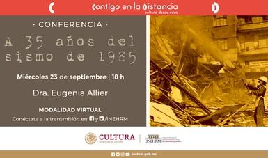 El INEHRM conmemorará el 35 aniversario del terremoto del 19 de septiembre de 1985