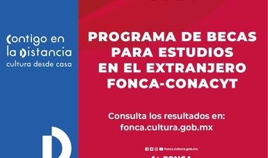 Anuncia el Fonca a seleccionados del programa Becas para Estudios en el Extranjero 2020